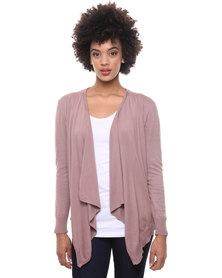 Utopia Cotton Open Shrug Cardigan Pink