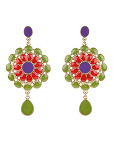 Utopia Folkloric Earrings Green
