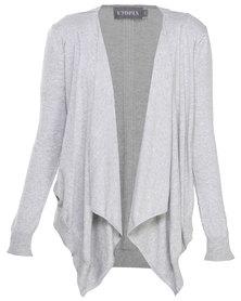 Utopia Cotton Open Shrug Cardigan Light Grey