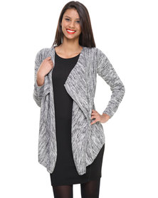 Utopia Marled Cotton Fall Away Cardigan Grey