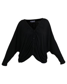 Utopia V-neck Batwing Top Black