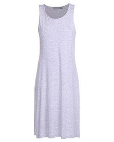 Utopia Side Slit Dress Grey