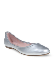 Utopia Plain Comfort Pumps Silver