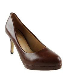 Utopia Almond Toe Court Shoes Brown