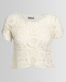 Utopia Crochet Top Stone