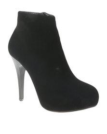 Utopia High Heel Pixie Boot Black