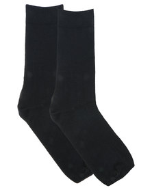 Utopia Men's Plain Socks Black