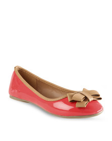 Utopia Bow Ballet Pumps Coral