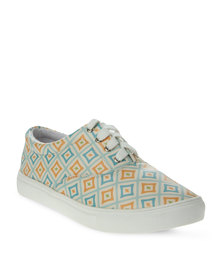Utopia Printed Lace-Up Sneaker Multi