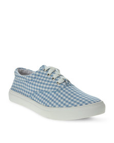 Utopia Printed Lace-Up Sneaker Blue