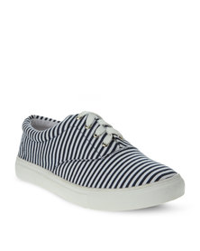 Utopia Lace Up Sneakers Navy