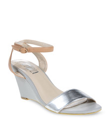 Utopia Metallic Wedges Silver