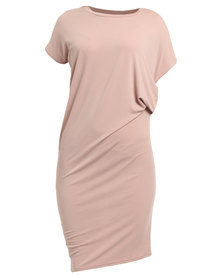 Utopia Dry Handle Knit Dress Dusty Rose
