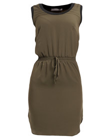 Utopia Sporty Tunic Dress Olive