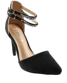 Utopia Chain Trim Court Shoes Black
