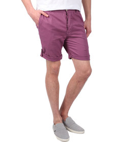 Utopia Linen Shorts Mauve