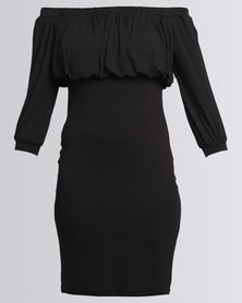 Utopia Off The Shoulder Sheath Dress Black