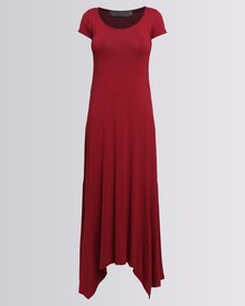 Utopia Maxi Dress Burgundy