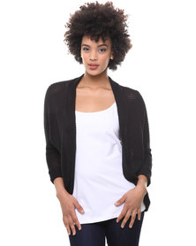 Utopia Lace Back KH Cardigan Black