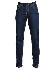Utopia Curvy Fit Basic Straight Leg Jeans Dark Blue