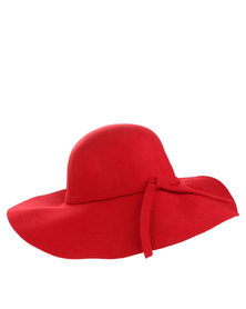 Utopia Wide Brim Hat Red