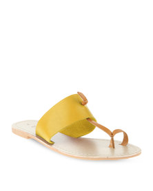 Utopia Leather Toe Strap Sandal Mustard/Tan