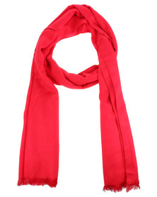 Utopia Oversized Scarf Red