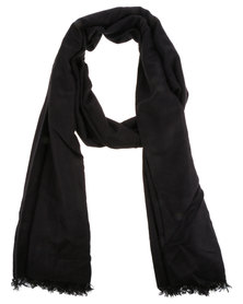Utopia Oversized Scarf Black