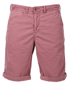 Utopia Washed Check Shorts Pink