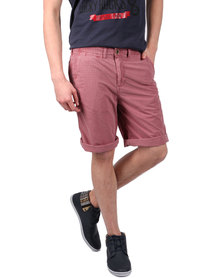 Utopia Washed Check Shorts Pink