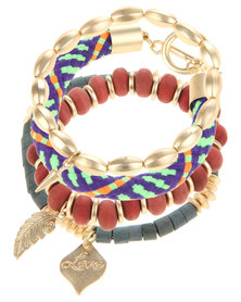 Utopia Tribal Bracelet Set Multi