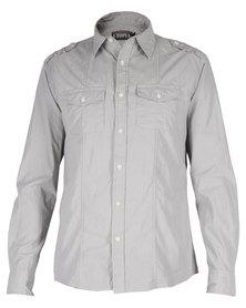 Utopia Panel Shirt Grey Stripe