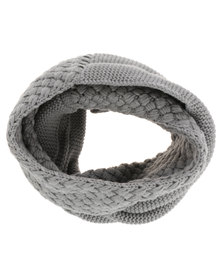 Utopia Cable Knit Snood Grey