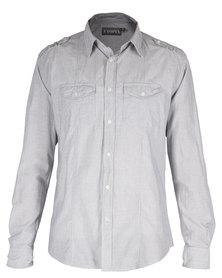 Utopia Panel Shirt Fine Grey Stripe