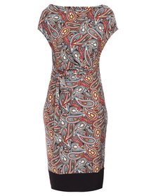 Utopia Paisley Printed Dress Multi-Coloured