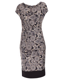 Utopia Paisley Printed Dress Black