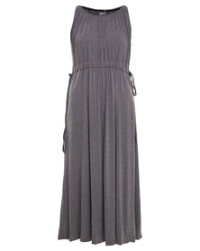 Utopia Floaty Maxi Dress Grey