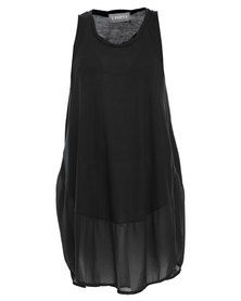 Utopia Mesh Summer Dress Black