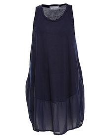 Utopia Mesh Summer Dress Blue