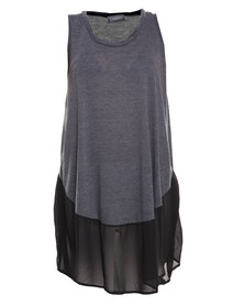 Utopia Mesh Summer Dress Grey