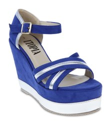 Utopia Metallic Binding Wedges Blue