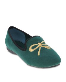 Utopia Bow Embroidery Pumps Green