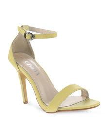 Utopia Plain Elegant Heels Yellow