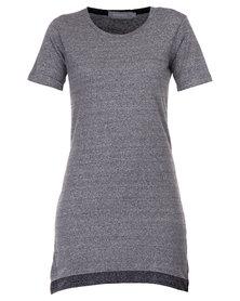 Utopia Boxy T-shirt Dress Charcoal