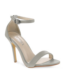 Utopia Plain Elegant Heels Grey
