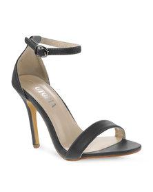 Utopia Plain Elegant Heels Black
