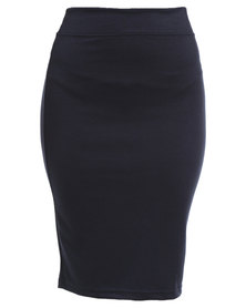 Utopia Basic Pencil Skirt Navy