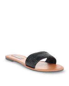 Utopia Weave Mule Sandal Black