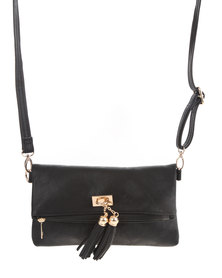 Utopia Cross Bag With Gold Trim Black
