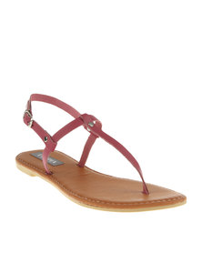Utopia Basic T-Bar Flat Sandals Pink